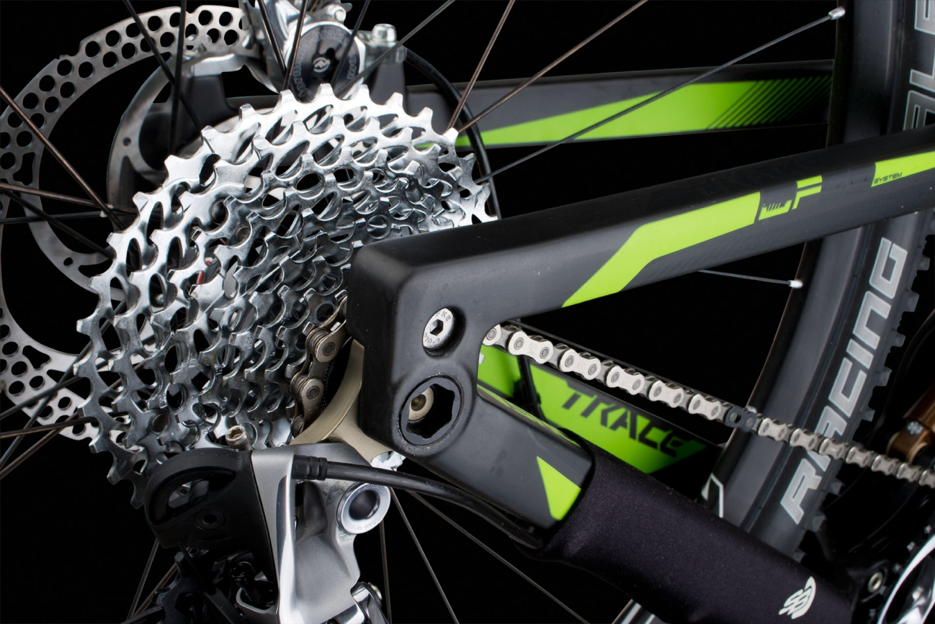 SYNTACE X12 THRU-AXLE SYSTEM - trace carbon